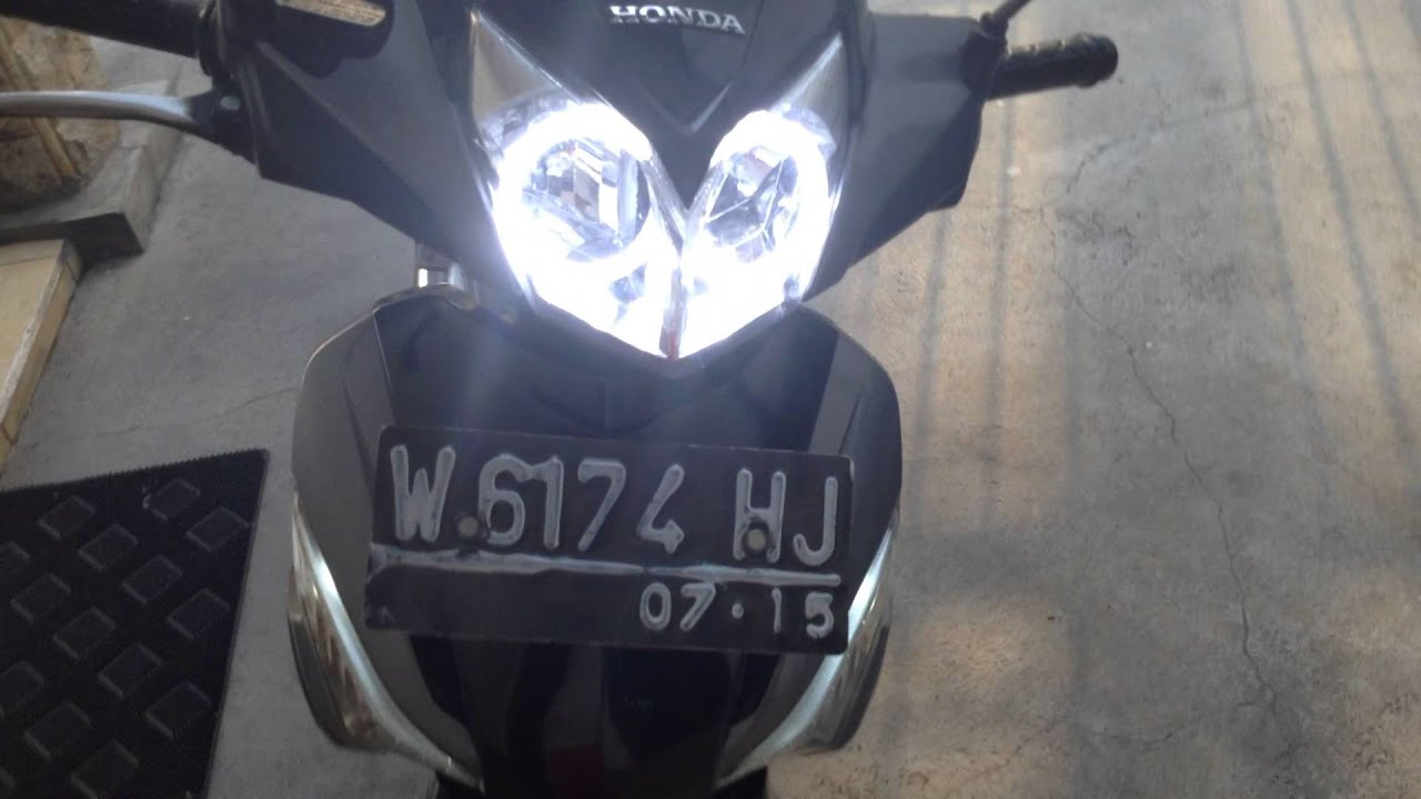 Tes Lampu Angel Eyes Led Full Light White Yellow By Supra X  Fi Youtube
