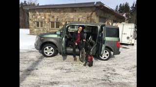 Easy Stow MI Wheelchair Lift in Extended Cab SUV or Pickup Truck Slideshow