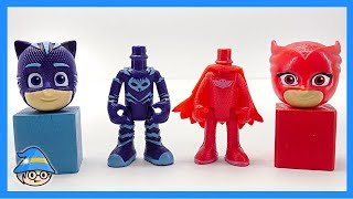 PJ Masks Balls, box, Cones, Learn Colors with Pj Masks Wrong Heads.