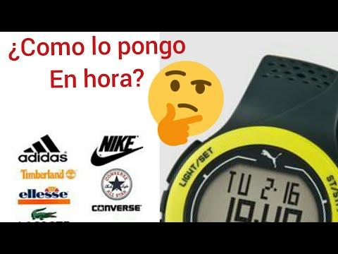 caminar Brisa estanque  Como poner en hora un reloj digital, Adidas, Nike, Fila - YouTube