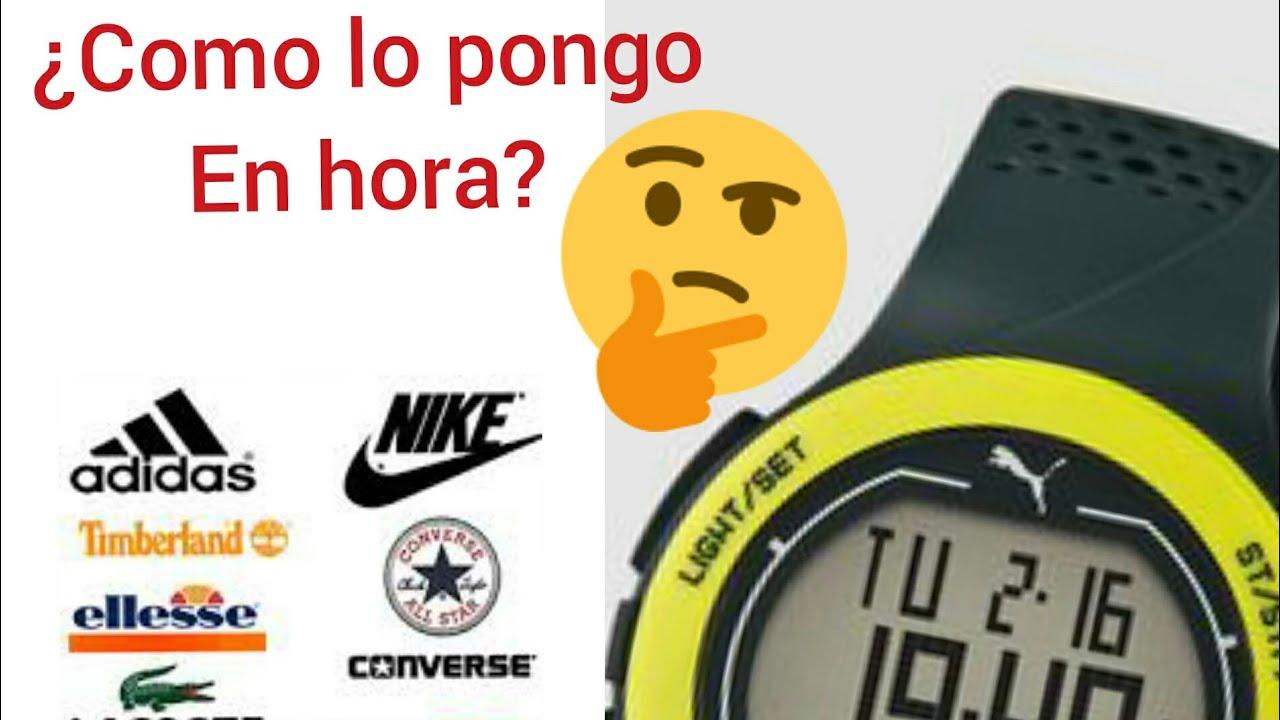 mañana chupar cambiar  Como poner en hora un reloj digital, Adidas, Nike, Fila - YouTube