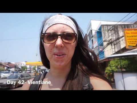Day 42- Sweaty Walks & Night Markets | Exploring Vientiane