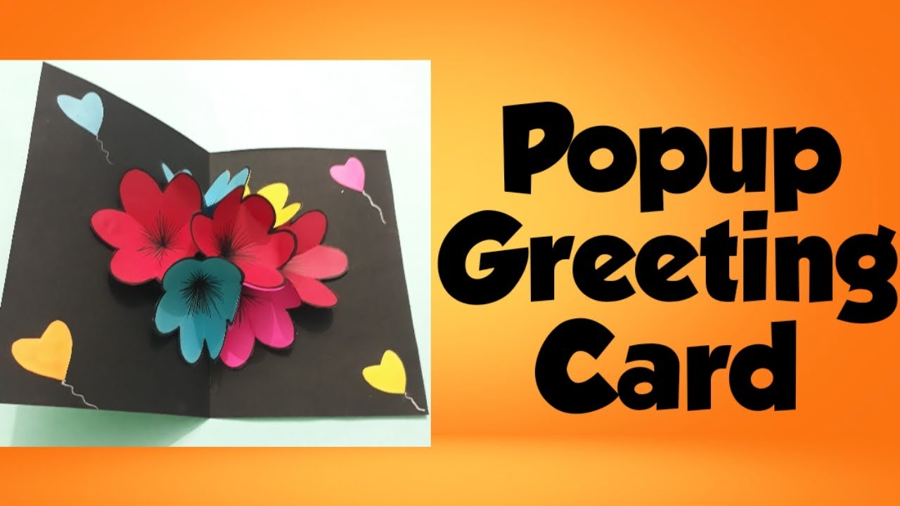 how to make popup greeting card at home │ popup greeting