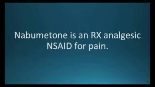 How to pronounce nabumetone (Relafen) (Memorizing Pharmacology Flashcard)