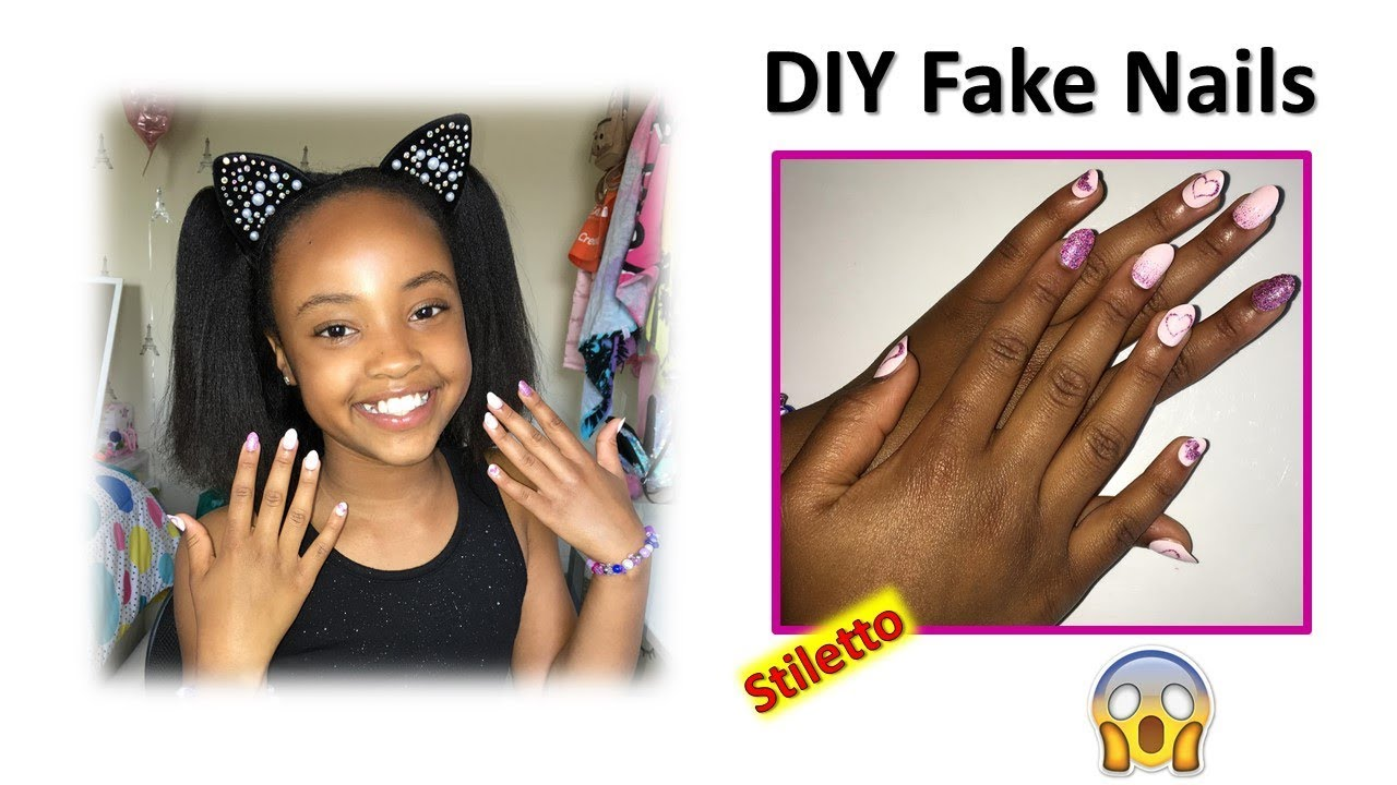 DIY Fake nails at home | Claire's press on nails review ...