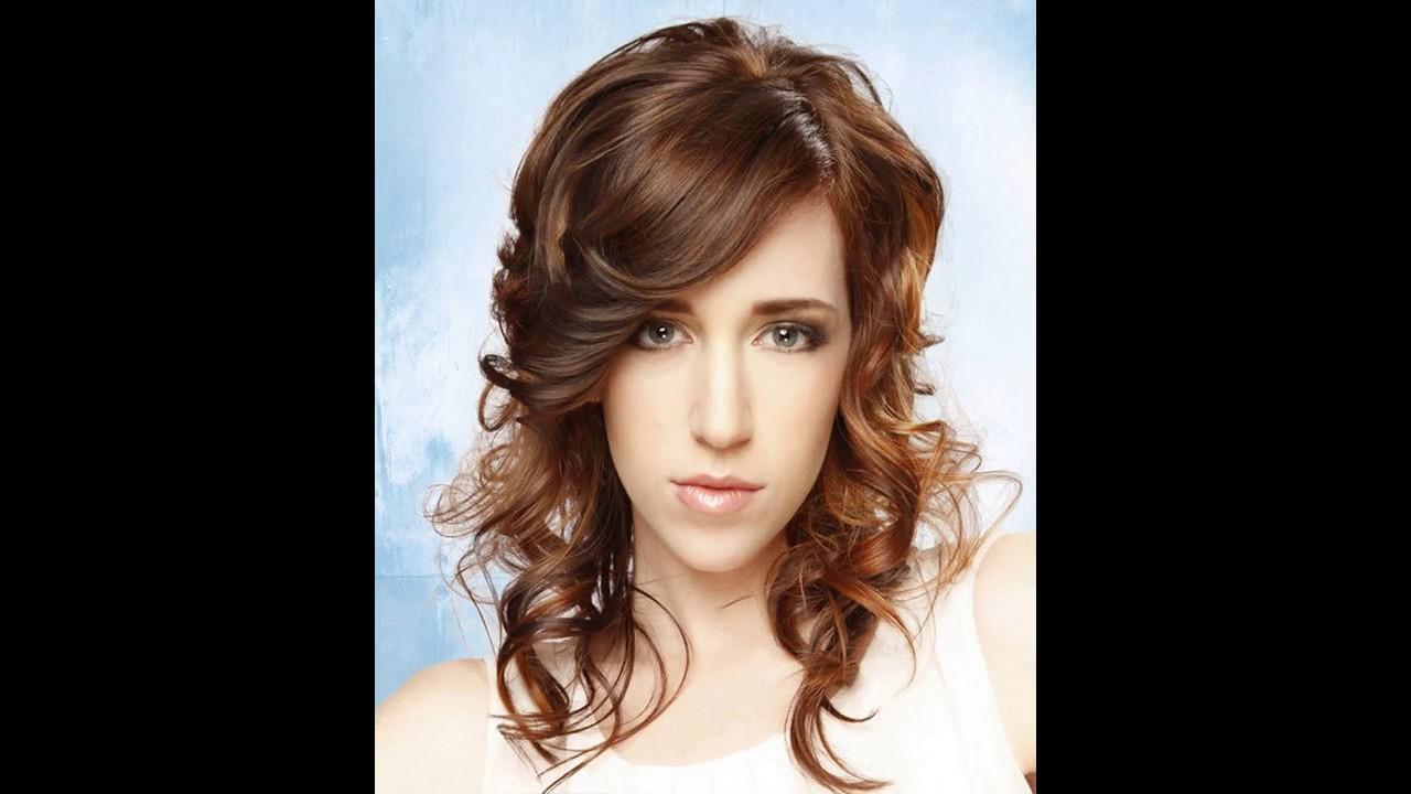 Célèbre Coiffure pour visage rond et cheveux bouclés - YouTube IZ56
