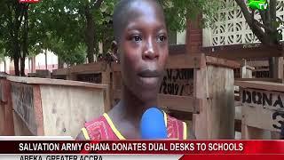 Salvation Army Ghana Donates Dual Desks To Schools At Abeka