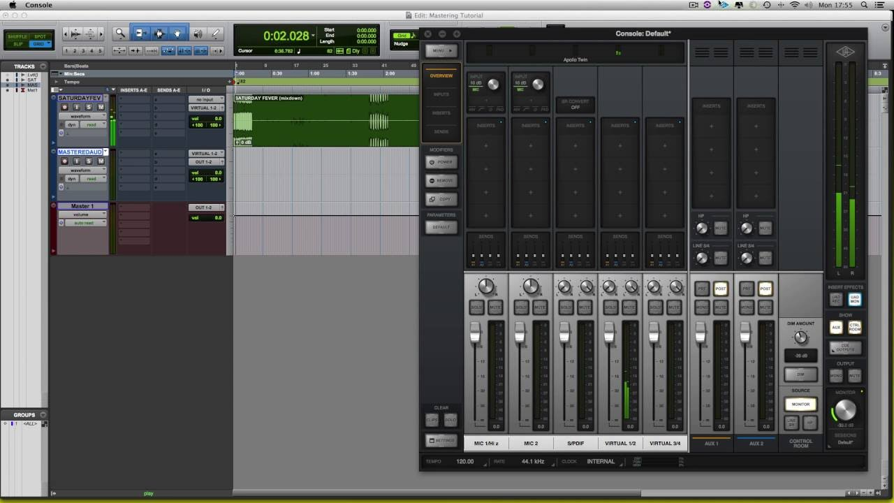 Mastering Setup With UAD Console 2 0 And Protools