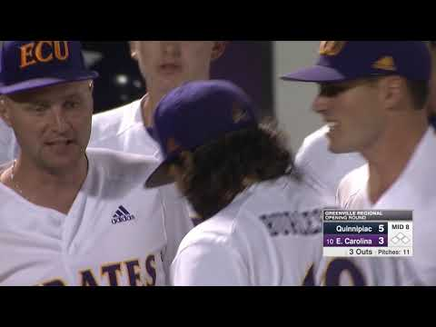Greenville Baseball Regional, ECU Vs Quinnipiac