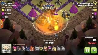 Clash of Clans - Estratégias de Guerra #2 (Valquírias LV1 em CV 9)