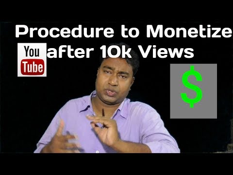 How to Enable Monetization after reaching 10k Views as per New Rule