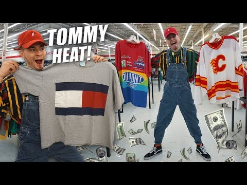 HUGE TOMMY HILFIGER HAUL! OVERALLS & MORE | Trip to the Thrift #180