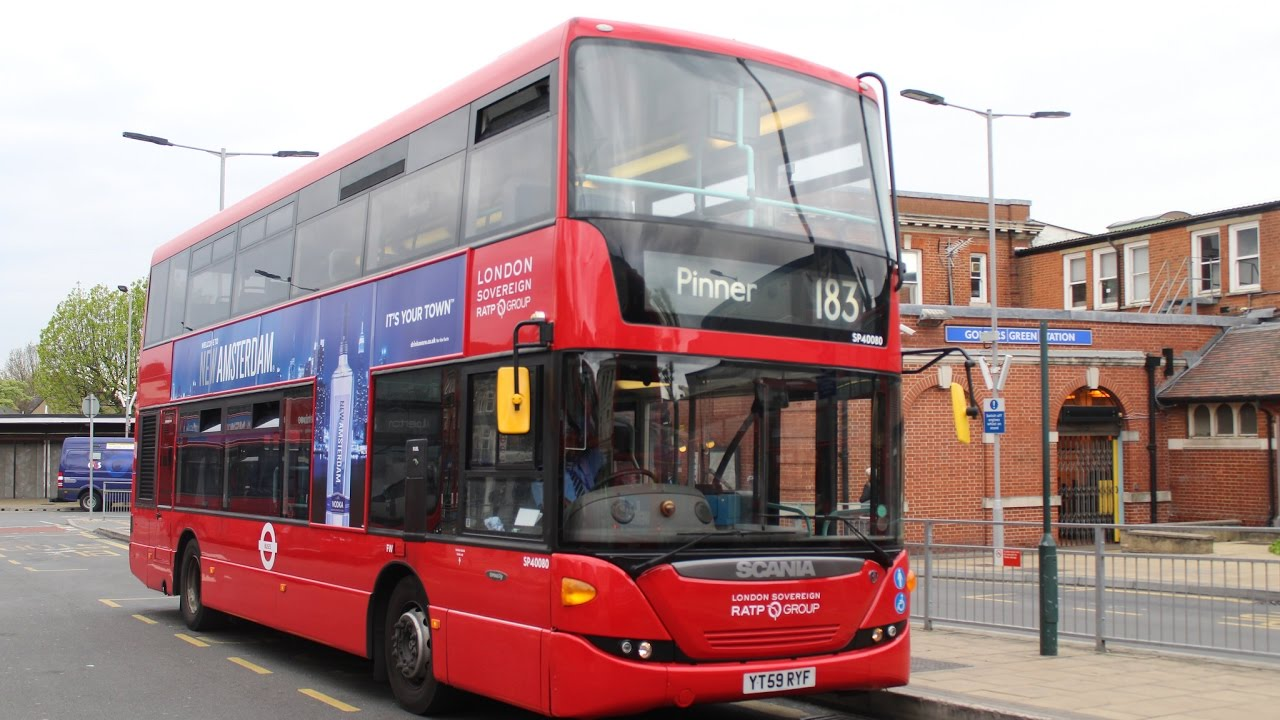 London Sovereign | Scania OmniCity | 183 to Pinner | SP40080/YT59RYF