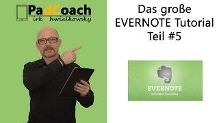 Evernote das große Tutorial Teil #5: Notizbücher teilen, Workchat, Email