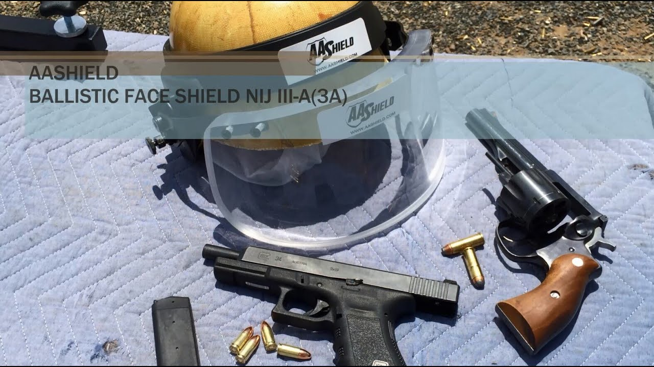 63f1b3db AA SHIELD bullet proof Glass Ballistic Face Shield NIJ III-A(3A ...