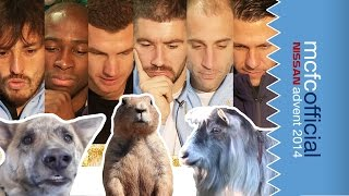 Man City Players React To Funny Animal Videos on YouTube | Man City Advent Calendar 2014 | Day Ten