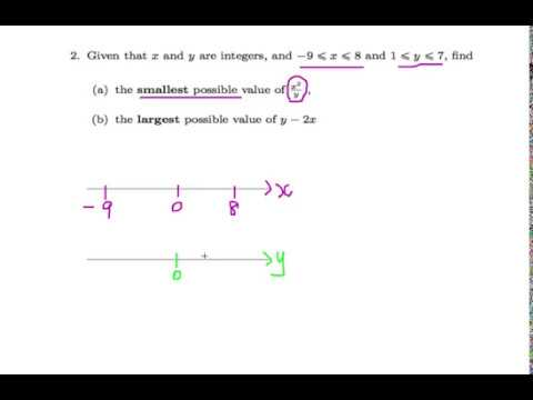 Singapore GCE 'O' Level Emath Ep. 12 : Inequality