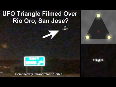 UFO Triangle Filmed Over  Rio Oro, San Jose