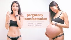 Pregnancy Transformation - Week by Week Pregnant Belly Progression