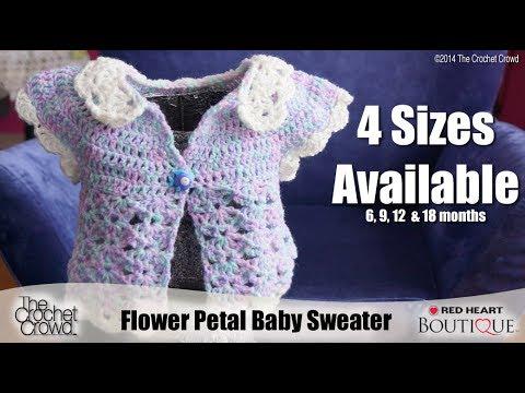 Crochet Baby Flower Petal Sweater Tutorial Youtube