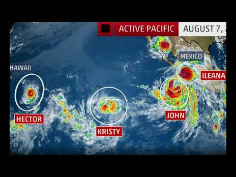 Unusual Activity: Four Named Tropical Cyclones Swarm The Pacific Ocean