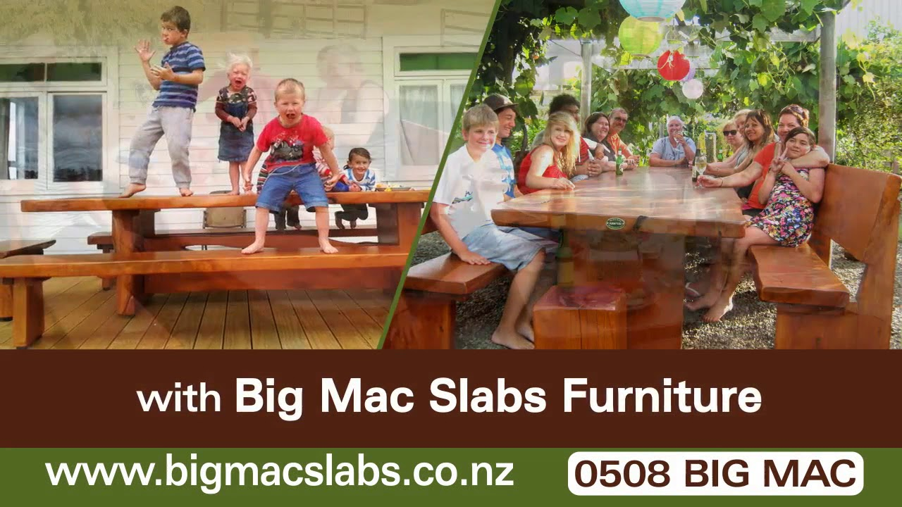 Wooden Outdoor Furniture Auckland Wellington - YouTube