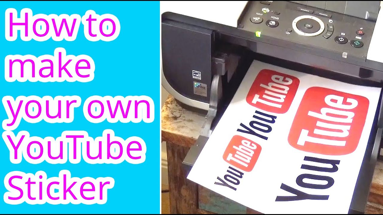 How to make your own YouTube Sticker or any other sticker ...