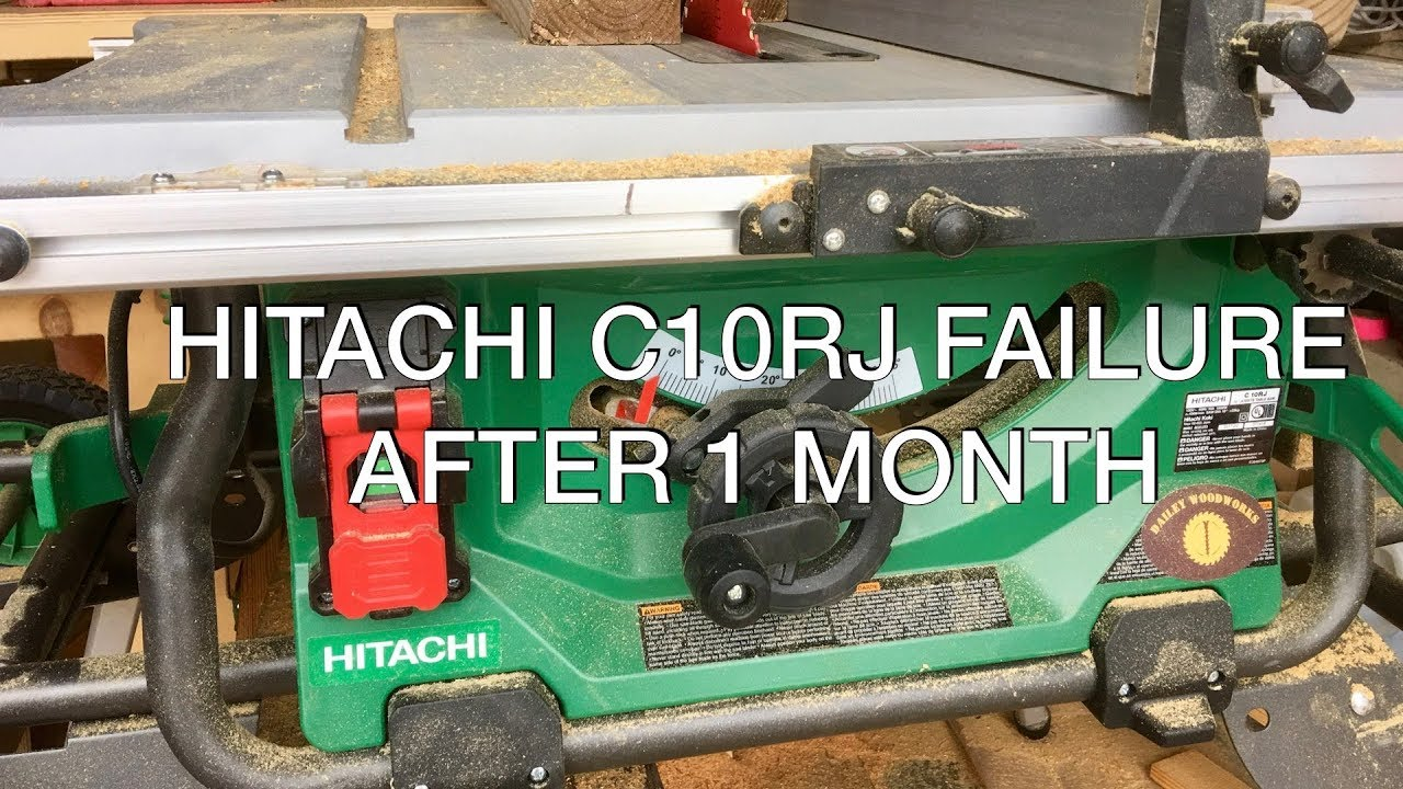critical failure the hitachi c10rj jobsite table saw is broken [ 1280 x 720 Pixel ]