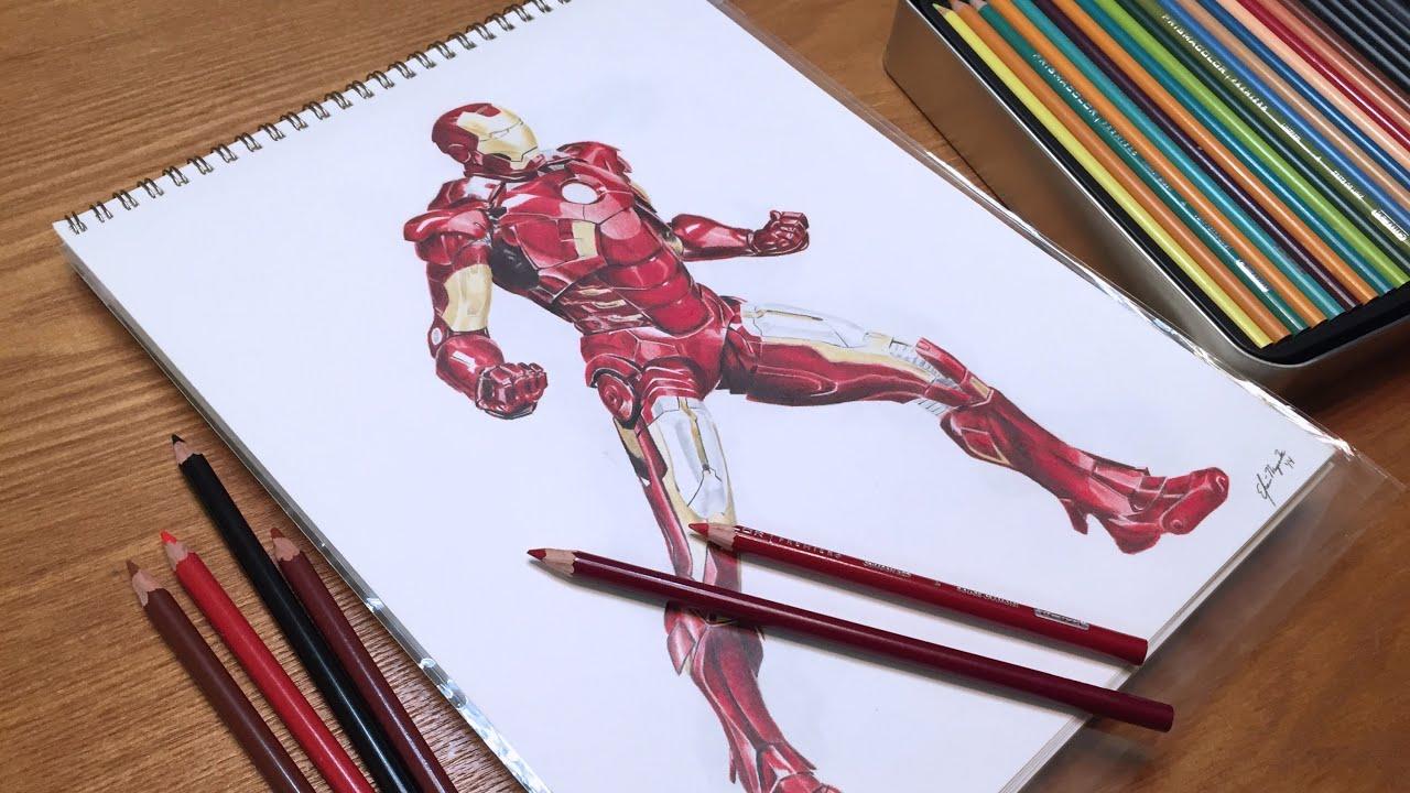 iron man mark 7 slideshow drawing youtube