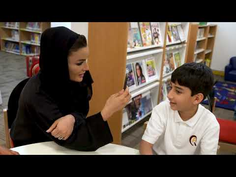 HH meets with students at Qatar Academy Al Wakrah | لقاء صاح
