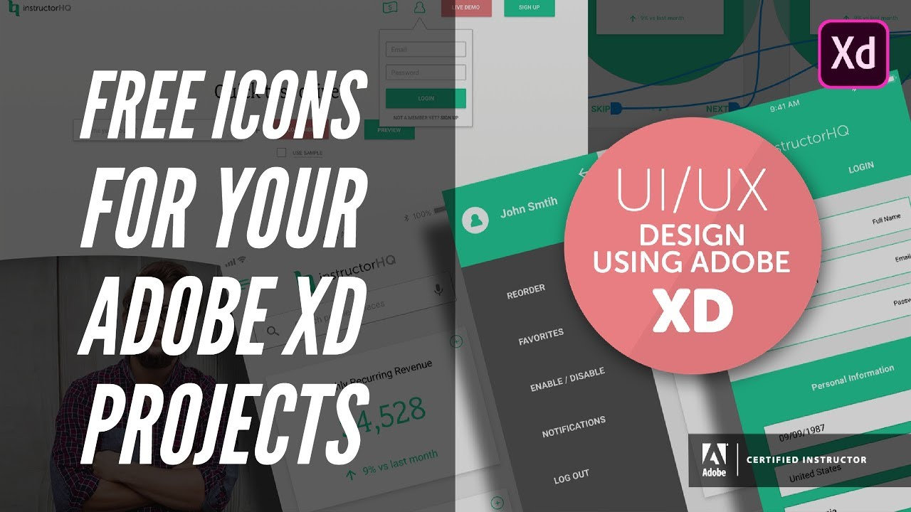 Free icons for your Adobe XD projects - UI/UX & Web Design using Adobe XD  [9/42]
