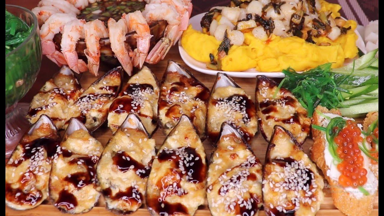 Рецепт | Запеченные мидии для mukbang с Верняевой | baked mussels