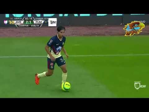Actuación de Diego Lainez en América 2-1 Pumas en la liguilla del Clausura 2018