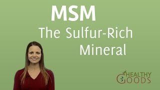 MSM - The Sulfur-Rich Mineral