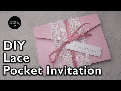DIY Vintage beaded lace 4x6 pocketfold invitation | Wedding Invitations DIY