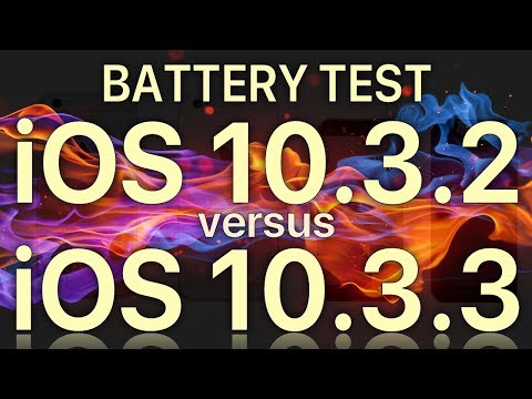 Battery Life : iOS 10.3.3 vs iOS 10.3.2 which is best? or are they the same?