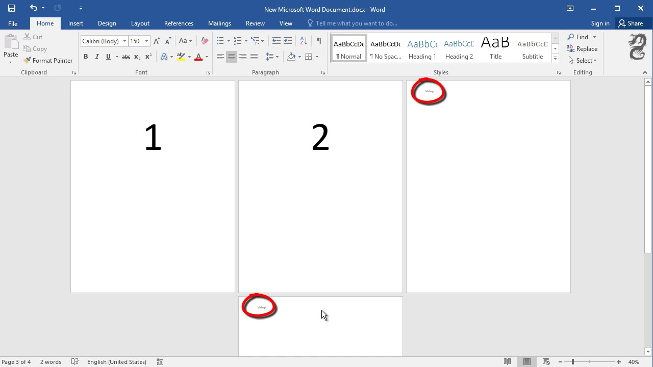 How To Start Header And Footer From Page 2 Or 3 In Word