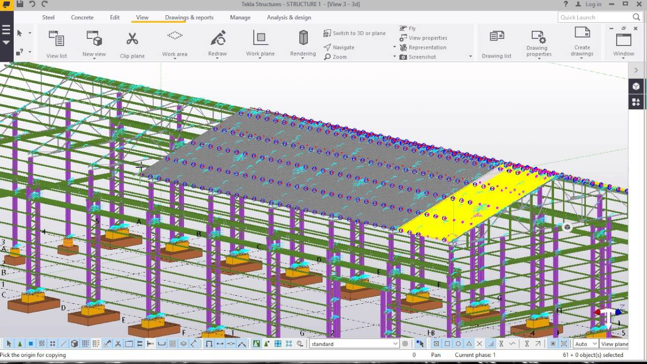 Corrugated Iron Sheet Placement In Tekla Structures 2016