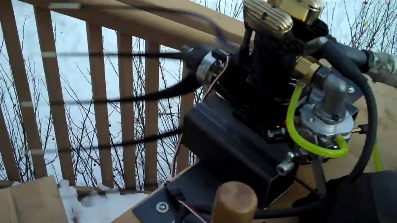 Saito 150 4 stroke converted from nitro to gas ignition get 8400 rpm