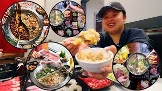 SEAFOOD + WAYGU SHORT RIB + RIBEYE HOT POT MUKBANG 먹방 EATING SHOW | FAVORITE SHABU SHABU RESTAURANT
