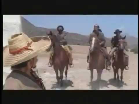 Johnny Yuma gives short shrift to three bandidos