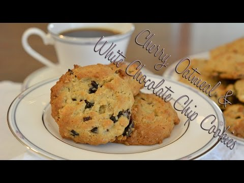 Cherry, Oatmeal & White Chocolate Chip Cookies | Requested
