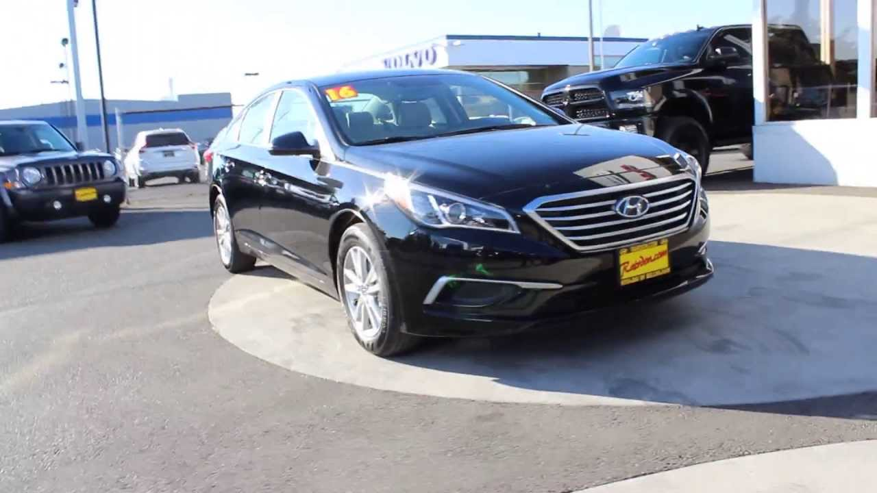 2016 Hyundai Sonata Se Phantom Black Gh286728 Skagit County Mt Vernon You