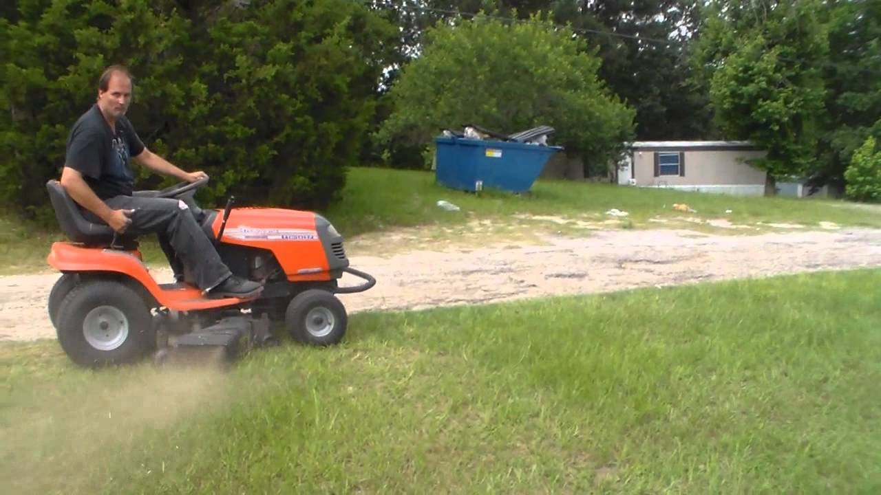 Mowing with my 1998 husqvarna riding lawn mower SOLD YouTube
