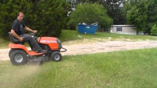 Mowing with my 1998 husqvarna riding lawn mower, (SOLD)
