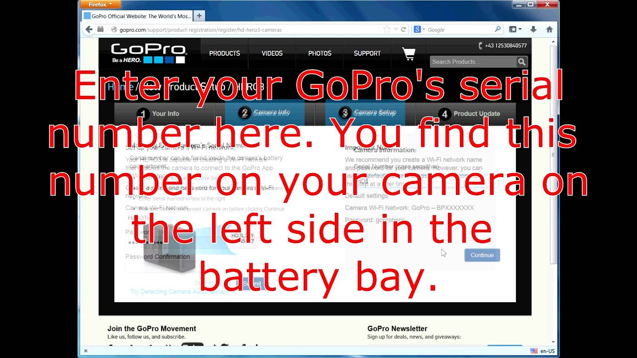 Gopro hero 3 password recovery - Howto Manually Re Set The Wifi Wlan Password Of Gopro Hero 3 Cameras