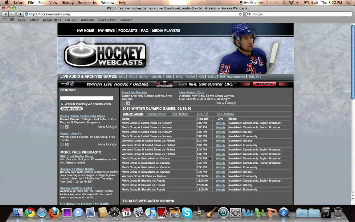 Watch Free Hockey Games Online Live Youtube