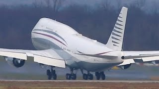 BEST BOEING 747 EVER? VIP Boeing 747 arrival and departure