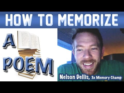🔥 How to Memorize a Poem - Nelson Dellis | Memory Experts Training | USA Champion | Remember Poetry