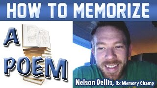 🔥 How to Memorize a Poem - Nelson Dellis | Memory Experts Training | USA Champion | Remember Poetry thumbnail